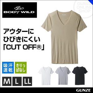 BODYWILD ボディワイルド vネックtシャツ GUNZE BODY WILD グンゼ キリッパ ボディーワイルド 肌着 メンズ/(V首)(紳士)/年間シャツ/BWY315