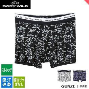 セール GUNZE(グンゼ)/BODY WILD(ボディワイルド)/ボクサーパンツ(前とじ)(メンズ)紳士/BWY561J/M〜L|gunze
