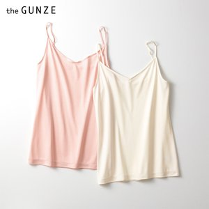 ★GUNZE(グンゼ)/the GUNZE(ザグンゼ)/直営店限定 SILK(シルク)キャミソール(レディース)/CK2556/M〜L|gunze