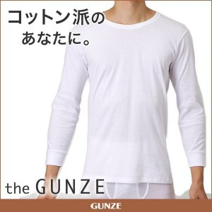 GUNZE(グンゼ)/the GUNZE(ザグンゼ)/【STANDARD】ロングスリーブシャツ(紳士)/CK9008|gunze