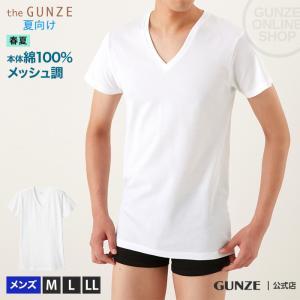 綿100 GUNZE(グンゼ)/the GUNZE(ザグンゼ)/【SEASON】VネックTシャツ(V首)(紳士)/春夏シャツ/CK9315N|gunze