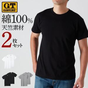 セール G.T.HAWKINS(GTホーキンス) Tシャツ(2枚組)(丸首)(紳士)|gunze