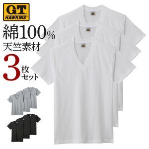 3枚組 GT ホーキンス Tシャツ GUNZE(グンゼ)/G.T.HAWKINS(GTホーキンス)/VネックTシャツ(3P)(V首)(紳士) 3枚セット/HK15153|gunze