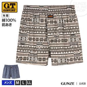 GUNZE(グンゼ)/G.T.HAWKINS(GTホーキンス)/綿100% トランクス(前あき)(メンズ)/HK9718/M〜LL|gunze