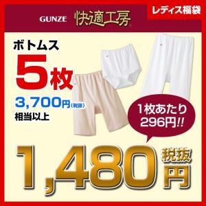 福袋 ハッピーバッグ GUNZE(グンゼ)_インナー/婦人 福袋5枚組B/LXHK975
