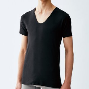低刺激 入院 術後 完全無縫製 MediCure(メディキュア)/UネックTシャツ(紳士)/年間シャツ/NP0016|gunze
