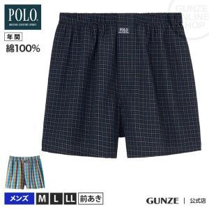 GUNZE(グンゼ)/POLO BCS/綿100% トランクス(前あき)(メンズ)/PBM971/M〜LL|gunze