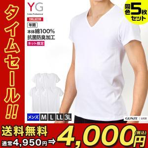 送料無料 GUNZE(グンゼ)/YG/ネット限定お得セット YG VネックTシャツ5枚セット(V首)(紳士)/SETM082|gunze