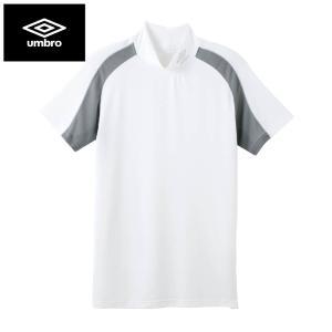 イギリスのスポーツブランドumbroのハイネックTシャツ。  【ドライ(吸汗速乾)】 効果的に配置さ...