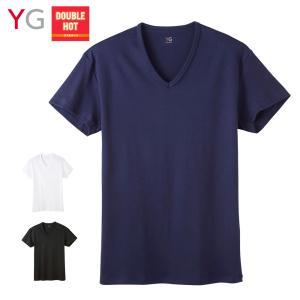 \冬の大バーゲン/ GUNZE(グンゼ)/YG(ワイジー)/ダブルホット DOUBLE HOT 温感 保温 VネックTシャツ(メンズ)/YV0715/M〜LL gunze