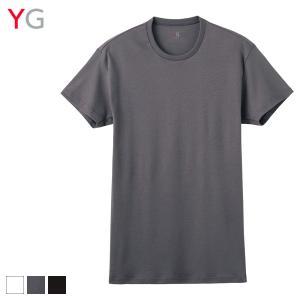 GUNZE(グンゼ)/YG(ワイジー)/【HOT-ON COTTON】クルーネックTシャツ(メンズ)/綿100% 天然素材 暖かい 秋冬用/紳士肌着/YV0913/M〜LLの画像