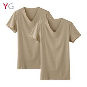 GUNZE(グンゼ)/YG/【CUT OFF】【旅行用タイプ】VネックTシャツ2枚組(V首)(紳士)/YV14162|gunze