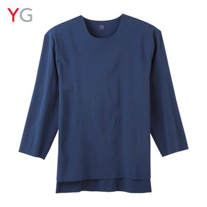 GUNZE(グンゼ)/YG(ワイジー)/On.T-OUTER(オンティーアウター)7分袖Tシャツ(裾スリット)(メンズ)/YV2217/M〜LL gunze