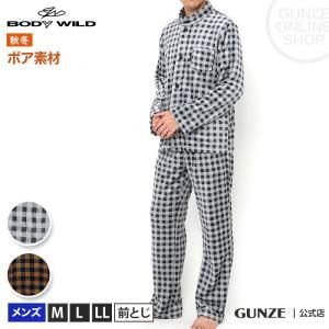 GUNZE(グンゼ)/BODY WILD(ボディワイルド)/パジャマ 長袖長パンツ(メンズ)/BJ6059/M〜LL gunze