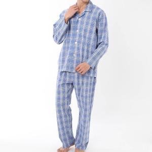 GUNZE(グンゼ)/肌着屋さんのこだわりパジャマ 長袖長パンツ(メンズ)/春夏/SF2209/M〜L|gunze