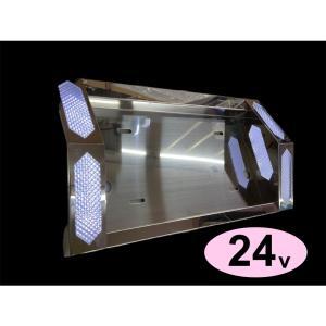 トラック用品 12V/24V  LED (ホワイト)中型 とんがりナンバープレート枠   JETイノウエ製 guranpuri-kyoto