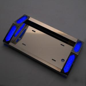トラック用品 24V専用 LED (ブルー)とんがりナンバープレート枠 大型クラス JETイノウエ製 guranpuri-kyoto