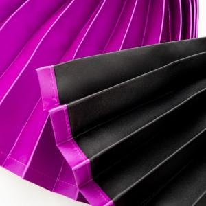 トラック用 仮眠・ラウンドカーテン 紫 ダブルフェイス(パープル/ブラック )プリーツタイプ|guranpuri-kyoto