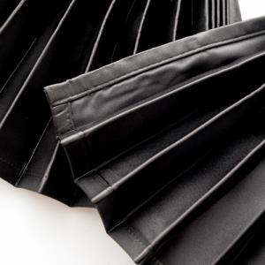 トラック用 仮眠・ラウンドカーテン 黒 ダブルフェイス(ブラック /ブラック )プリーツタイプ|guranpuri-kyoto