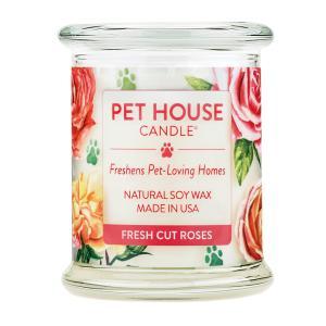 ファンタジーワールド PET HOUSE キャンドル フレッシュカットローズ (OFA-L07) L (アロマキャンドル) 240g【ネコポス不可】|guruguru-cosme