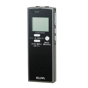 ELPA(エルパ) ICレコーダー4GB ADK-ICR500 1775300【ネコポス不可】【A】【キャンセル・返品不可】|guruguru-cosme