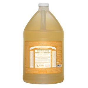 【正規輸入品】ドクターブロナー マジックソープ ガロン シトラスオレンジ (オールインワンソープ) 3776ml guruguru