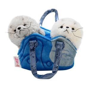 ファンシーパルズ TW アザラシ/Aurora World/ぬいぐるみ/ファッショナブルなバッグにか...