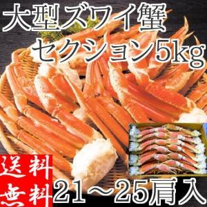 ズワイガニ 訳あり 5kg 足 ボイル 冷凍 ギフト 2L 蟹 カニ 食べ放題 堅蟹 脚 ずわい蟹