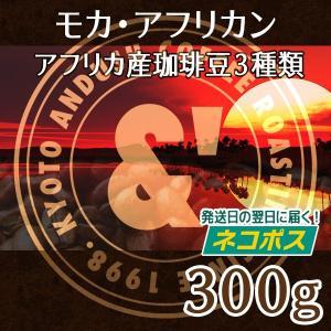 コーヒー豆 モカ・アフリカン 珈琲豆 3種で300g 送料無...