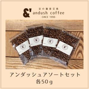 NEW コーヒー豆 送料無料 珈琲豆 アンダッシュコーヒー アソート コーヒー 豆 5種で250g|gurumekan