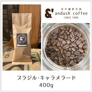 コーヒー豆 送料無料 珈琲豆 おてがるパック ブラジル キャラメラード 400g 約40杯分 コーヒー 豆 焙煎後すぐ発送 中深煎り|gurumekan