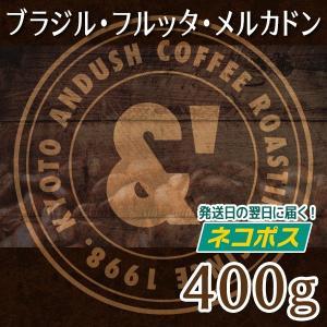 コーヒー豆 送料無料 珈琲豆 おてがるパック ブラジル フルッタ メルカドン 400g 約40杯分 焙煎後すぐ発送 中深煎り|gurumekan