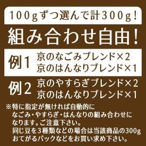 コーヒー豆 送料無料 珈琲豆 京の選べるブレンドセット 3種で300g コーヒー 豆 福袋 焙煎後すぐ発送|gurumekan|03