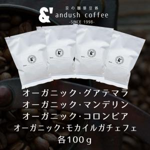 コーヒー豆 送料無料 珈琲豆 有機JAS認証生豆100%使用珈琲豆セットBIG 4種で400g コーヒー 豆 福袋|gurumekan