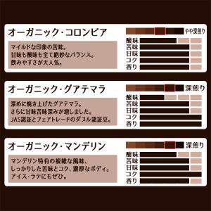 コーヒー豆 送料無料 珈琲豆 有機JAS認証生豆100%使用珈琲豆選べるセット 3種で300g 焙煎後すぐ発送 コーヒー 豆 福袋|gurumekan|02