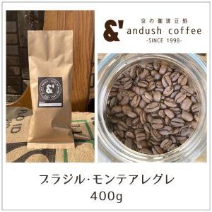 コーヒー豆 送料無料 珈琲豆 おてがるパック ブラジル モンテアレグレ 400g 約40杯分 焙煎後すぐ発送 やや深煎り|gurumekan