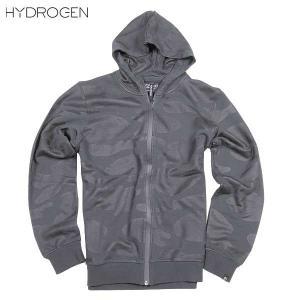 ハイドロゲン(HYDROGEN) メンズ BLACK CAMO ジップアップパーカー 170611  007  15A