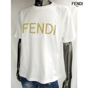 フェンディ(FENDI) メンズ FENDIロゴ・サイドスリット入りカットソー ユニセックス着用可 白/黒 FAF077 A8XA F0ZNM/F0GME 91A guts 03