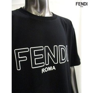 フェンディ(FENDI) メンズ FENDIロゴ・サイドスリット入りカットソー ユニセックス着用可 白/黒 FAF077 A8XA F0ZNM/F0GME 91A guts 06