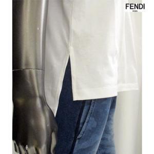 フェンディ(FENDI) メンズ FENDIロゴ・サイドスリット入りカットソー ユニセックス着用可 白/黒 FAF077 A8XA F0ZNM/F0GME 91A guts 07