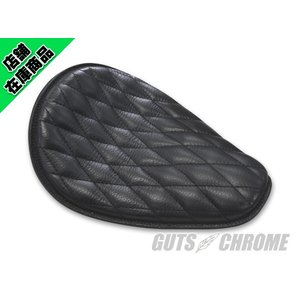 スモール レザーサドルシート ブラック ダイヤステッチ|gutschrome