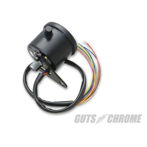インジケーター付Sメーター2:1機械式60mm黒盤黒ボディ|gutschrome|02