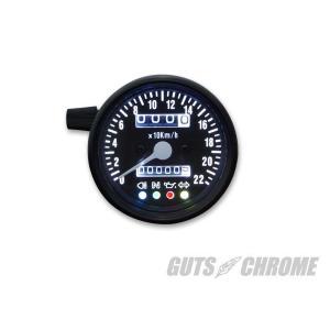 インジケーター付Sメーター2:1機械式60mm黒盤黒ボディ|gutschrome|03