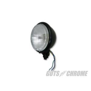 5.75インチ ベーツヘッドライト ブラック(フラットレンズ)|gutschrome