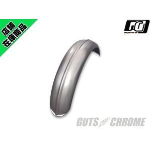 6インチ センターリブフェンダー スチール RAW|gutschrome