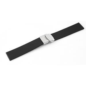 腕時計 ラバー ベルト 20mm 黒 直カン MR01BK ...