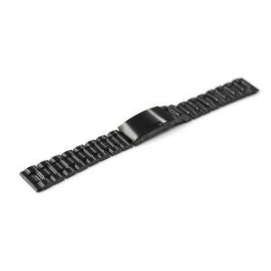 板巻きではなく、削り出したステンレスにメッキ加工を施したコマを使用した腕時計ステンレスバンド。エンド...