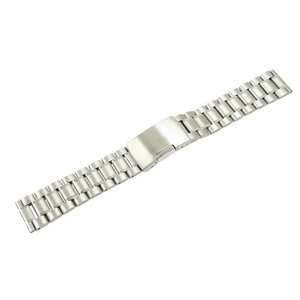 腕時計 ベルト 16mm ステンレス シルバー サイドプッシ...