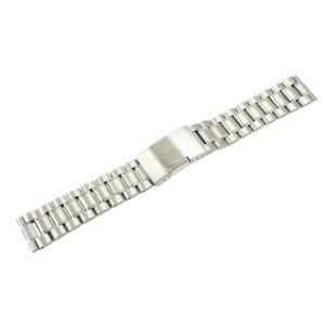腕時計 ベルト 17mm ステンレス シルバー サイドプッシ...
