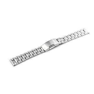 腕時計 ベルト 19mm ステンレス シルバー サイドプッシ...
